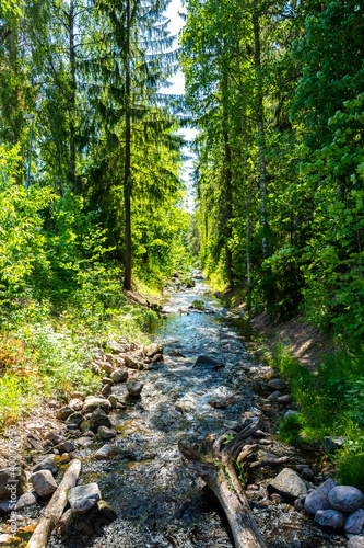 View of The City Brook, Imatra, Finland Fotobehang
