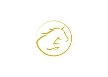 Horse Logo Vector Icon Template