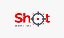Shot Aim Target Logo Designs Concept, Shot Bullet Logo Symbol