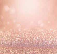 Rose Gold Glitter Background For Christmas And Valentine.