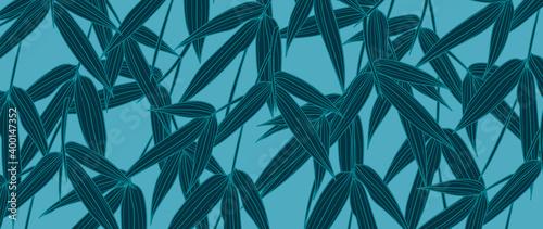 Fotografija Bamboo leaves wallpaper design vector