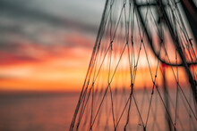 Sunset In The Sky Fishing Net