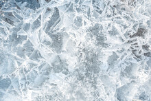 Ice Texture. Frozen Water Patterns