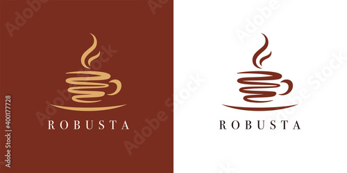 Fényképezés Premium coffee cup shop logo