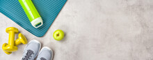 Sport And Fitness Equipment With Copyspace