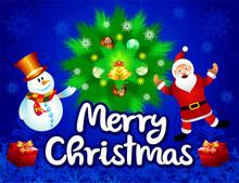 Creative Blue Christmas Background