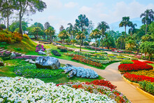 Design Of Perennial Garden In Mae Fah Luang, Doi Tung, Thailand