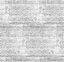 Grid Spotted Pattern. Abstract Grunge Halftone Lined Texture. Distressed Uneven Grunge Background. Abstract Vector Illustration. Overlay To Create Interesting Effect And Depth. Isolated On White.