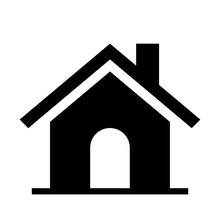 Home Icon, House Symbol, Home Simple Shape For Clip Art