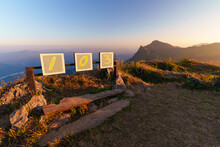 Doi Pha Tang 103 Viewpoint It Is The Famous Tourist Attraction Mountain Peak In Chiang Rai Province, Thailand