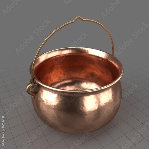 Obraz Copper cooking pot - fototapety do salonu
