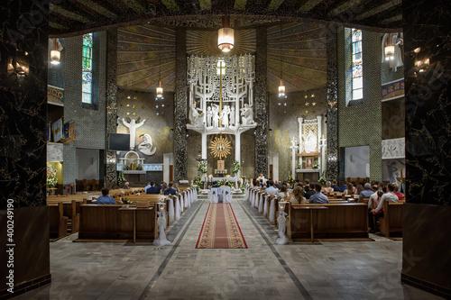 Fototapeta wnętrze kościoła, interior of the church obraz