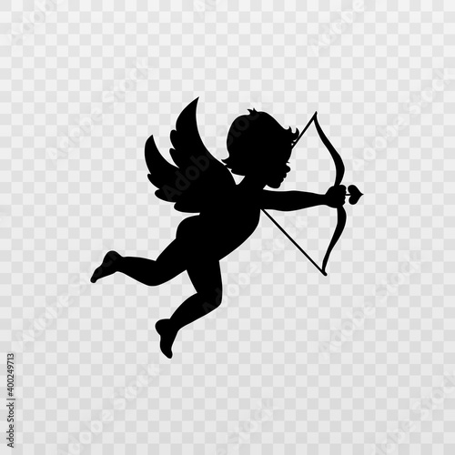 Fotografering Vector angel with an arrow of love