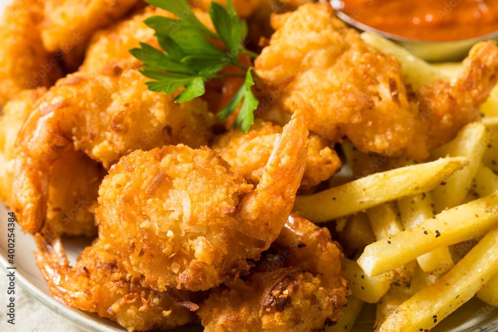 Fototapeta Homemade Deep Fried Coconut Shrimp
