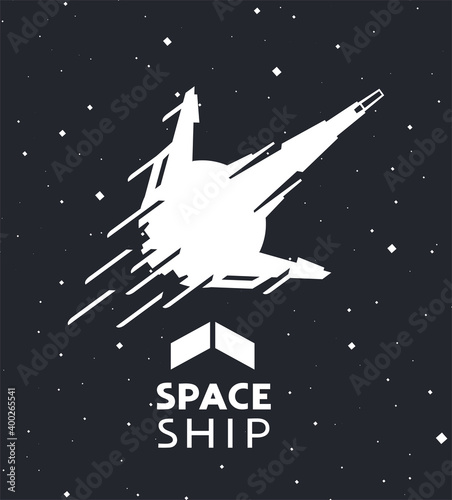 Платно Creative design of spaceship illustration