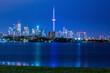 Canada, Ontario, Toronto, Town seen over water