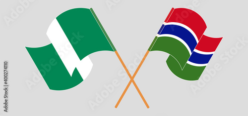 Canvas Print Crossed flags of Nigeria and the Gambia