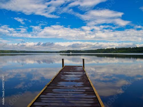 Fotografie, Obraz Pier on the lake