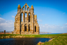 Ruins Of The Ancient Whitby Abbey, Yorkshire, United Kingdom