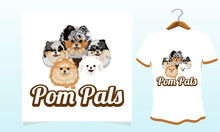 Pom Pals Dog T-shirt, Dog T Shirt Vector Graphics To Download