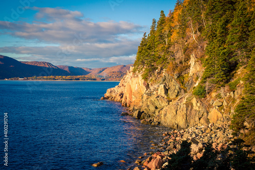 Foto rugged coast of Cape Breton Island