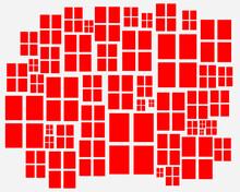 Artistic Work. Red Windows
