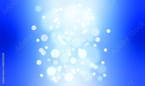 Fototapety, obrazy: The bokeh on the background blurred the natural blue and white. Bokeh colorful glows sparkle beautiful New year day concept. and used for background and display your product.