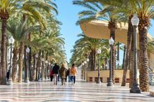 View Of The Paseo De La Explanada De Alicante, Spain