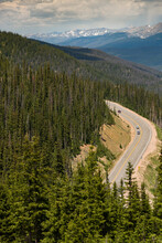 Looking Down On Berthoud Pass From Over Eleven Thousand Feet.  Awesome View With Exceptional Mountains In The Distance.
