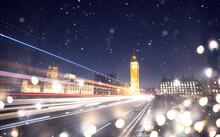 Holiday Lights Around Big Ben.