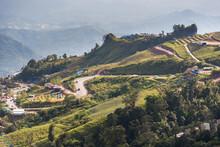 Phetchabun, Thailand - November, 29, 2020 : Road Up The Mountain Phu Tub Berk, Phetchabun, Thailand