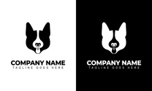 Ilustration Vector Graphic Of Dog Head Line Art Black And White