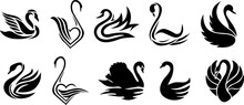 Swan Icon For Symbol Or Logo Design