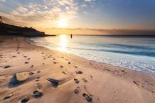 たたら浜の朝日