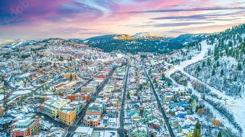 Fotografija Park City, Utah, USA Downtown Skyline Aerial