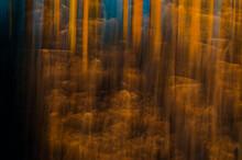 Barrido Abstracto Para Fondo Bosque Amarillo Azul Naranja