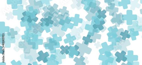 Canvas-taulu Fondo patrón de cruces de color azul sanitario