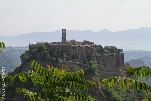 village of bagnoregio in  province of viterbo