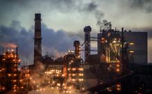 Metallurgical Plant At Night