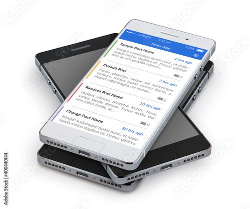 Fototapeta Smartphone News Applications