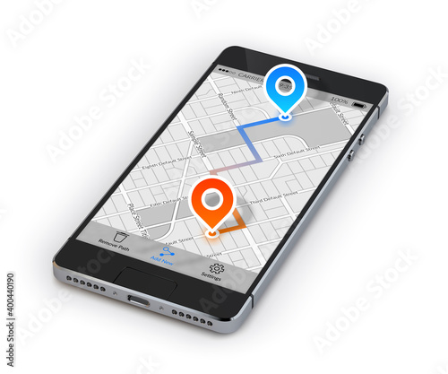 Fotografia, Obraz Smartphone Mobile Navigation
