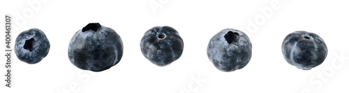 Leinwand Poster blueberries isolated on a white background. selective focus.