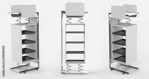 Fotografia, Obraz Display stand, retail display stand for product , display stands isolated on white background