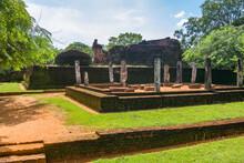 Ruins Of The Royal Ancient City Of The Kingdom Of Polonnaruwa In Sri Lanka
