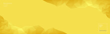Vector Abstract Polygonal Illuminating Yellow Background. Geometric Shapes. Low Poly Style. In The Color Of The Year 2021. Banner, Web Design. Copyspace.