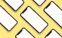 Mobile Phone Mockup Design 3d Rendering
