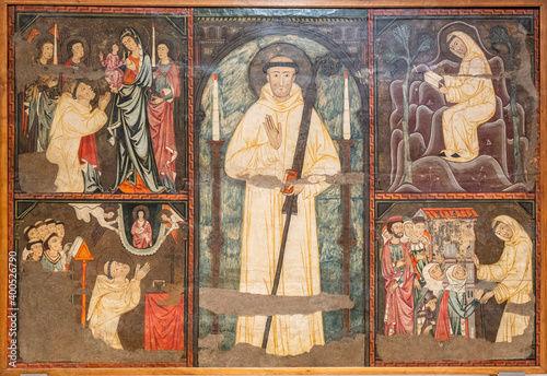 altarpiece of Saint Bernat, master of the mallorca conquest, 13th century, Fototapete