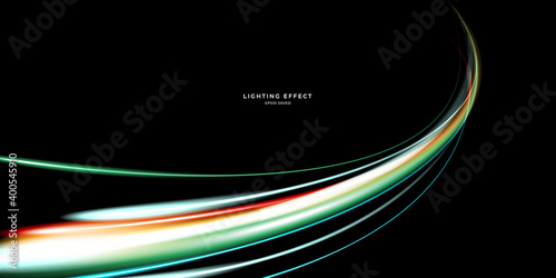 Fototapeta abstract vector neons wave. bright sparkling background. obraz