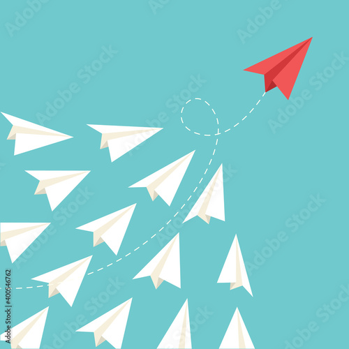 Papel de parede Paper plane are competition to destination up to the sky go to success goal