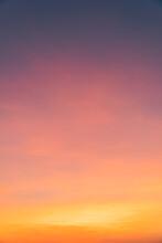 Sunset Sky Orange Sunrise Vertical In The Evening Background
